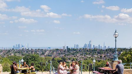 The palace's summer terrace attracted 17,000 visitors. Picture: Alexandra Palace