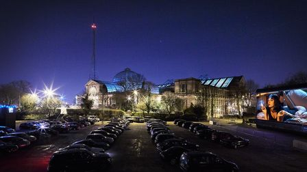 The drive-in cinema held at Alexandra Palace in the autumn. Picture: Josh Fray