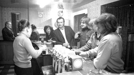 Standing at the bar at the Emperor inn in 1975 Picture: ARCHANT