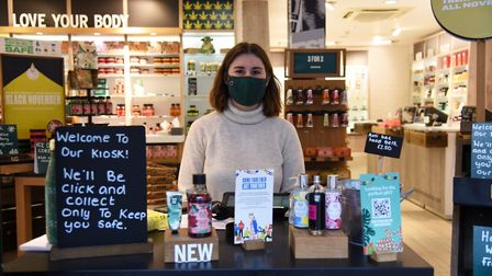 Isabel Thrower of the Body Shop Click and Collect counter. Ipswich shops are offering click and collect Picture...