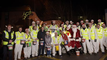 The Rudolph Run volunteers face the camera in 2018 Picture: SARAH LUCY BROWN