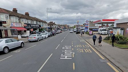 Adams was seen driving dangerously from Ilford to Station Road in Chadwell Heath. Picture: Google St