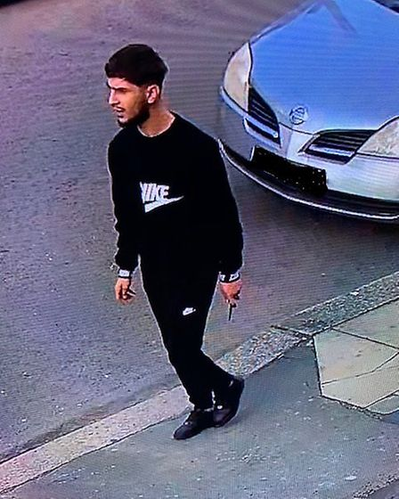 CCTV footage of one of the men believed to be involved in the attack. Picture: Met Police