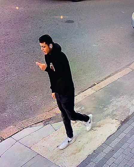 One of the men police believe to be involved in the drive-by stabbing in Richmond Road. Picture: Met