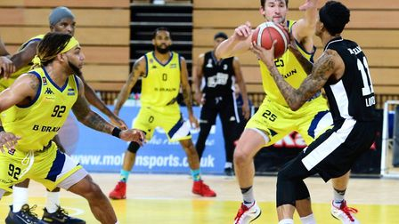 London Lions in action against Sheffield Sharks (Pic: Graham Hodges)
