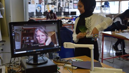 Pupils took part in virtual workshops with artist Shona Watt looking at the importance of the tin fo