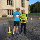 Three years ago at the Forres Harriers 10K - Peter Ryan (left) with former Waltham Forest-based race