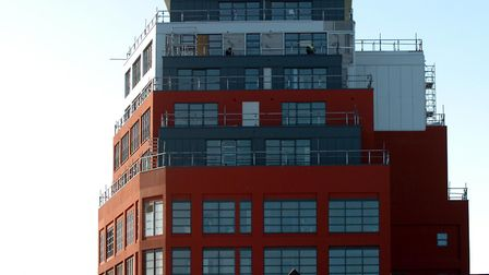 Cardinal Lofts, in Ipswich where there are concerns about the cladding Picture: Archant