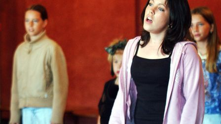 Young contestants sing for the judges at the Stars in their Eyes auditions at the Regent in 2003 Pi