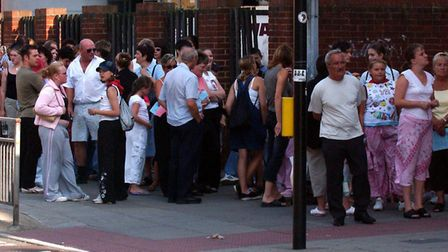 The queue outside the Regent for the Stars in their Eyes auditions Picture: RICHARD SNASDELL/ARCHANT