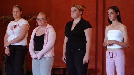 Auditioning youngsters face the panel of judges during the auditions Picture: JAMIE NIBLOCK/ARCHANT