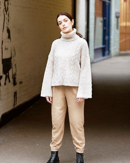 A model wearing knitwear from Cara & The Sky in Wembley Park Market. Picture: Cara & The Sky