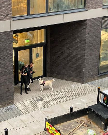 Jamie Swan and Lucy Mclaughlin outside the soon-to-be community centre. Picture: Barkney Wick