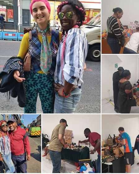 Customers and Sandra Monero (second from top left) at the N16 shopping hub. Picture: Monero Kids Boutique