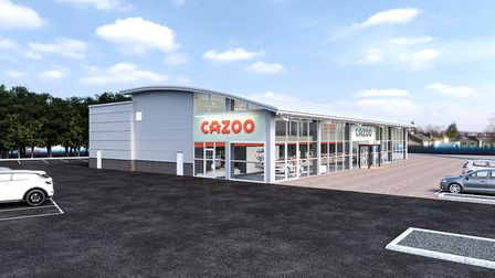 A CGI of the Cazoo Customer Centre in Ipswich Picture: CAZOO
