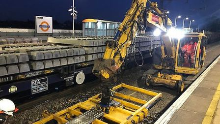 Work is carried out on the Barking to Gospel Oak line. Picture: Network Rail