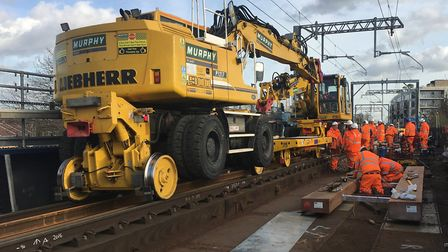 Work to repair the Barking to Gospel Oak line. Picture: Network Rail