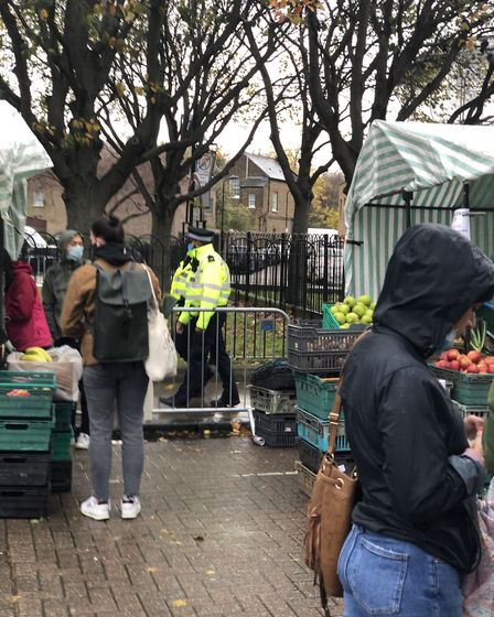 A new separate market for essential shopping has been introduced at Broadway market to combat overcrowding, with extra police...