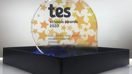 Kensington's award. Picture: TES