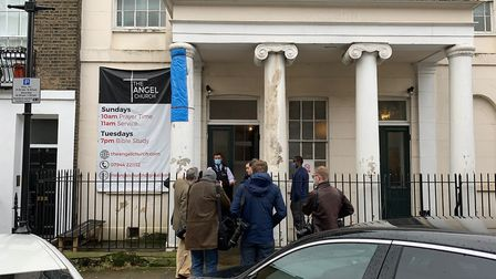 The scene at The Angel Church's Mount Zion Hall building on Chadwell Street in Clerkenwell on November 15. Picture: Joanna...