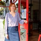 Lisa Hauck, who owns a Haverstock Hill hair salon and is concerned about plans to strip out parking