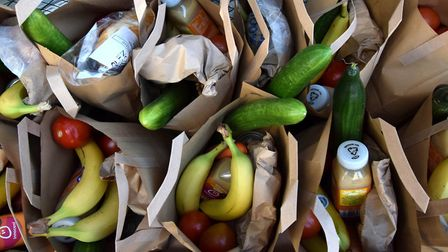 Streets Coffee, 289 Finchley Road, where volunteers ack and distribute a weekly food parcel to vulnerable members of the...