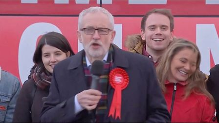 Jeremy Corbyn said: 'I've not come here to deliver milk or to hide in a fridge'. Photo: Guardian