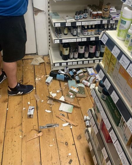The recent break-in at the at the organic health store. Picture: Haelan Centre