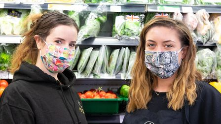 Staff members Amabel Booth and Ellie Newbound. Picture: Haelan Centre