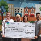 Safaplace mental health charity presented with a cheque for £3000 in 2019 at the Army and Navy pub.