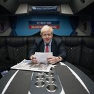 Prime minister Boris Johnson on the campaign trail