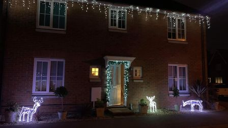 One of the lit-up houses set to be included in the Kesgrave Festive Light Trail Picture: HOLLIE WOLFE