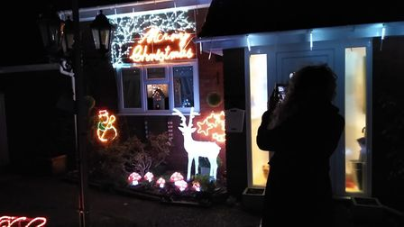 Frankie Nixon is setting up a Kesgrave Festive Light Trail, which will include displays like this one at her parents' home...