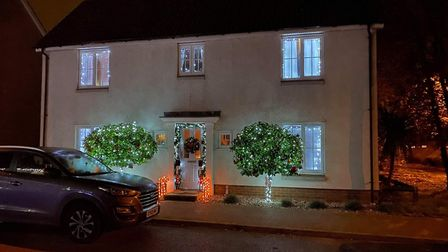 One of the houses which will feature in the Kesgrave Festive Light Display Picture: GEMMA BOURNE