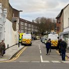 A man fell from a height in Birkbeck Road, Honrsey. His life is not thought to be in danger. Picture