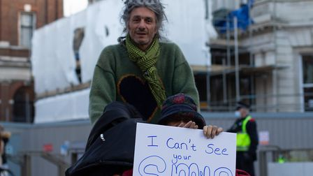 A protester faces the camera Picture: CHARLEY SHILLABEER