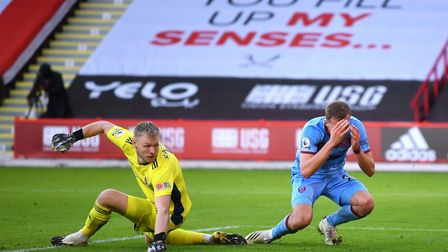West Ham United's Tomas Soucek (right) reacts after a missed chance
