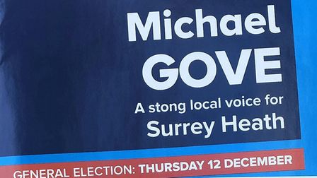 'Stong and stable' - Michal Gove has made an embarrasing blunder on his campaign literature. Photo: