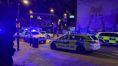The victim was shot in Westgate Street, London Fields. Picture: @999London