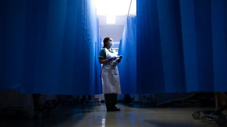 Frontline staff at Whittington Hospital. Champa Jetha - acute therapy technician. Picture: Slater King