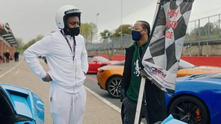 Ian got to whizz around the Brand's Hatch race car track in a Ferrari and Lamborghini as part of the Unsung Heroes campaign o...