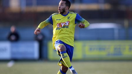 Roman Michael-Percil of Haringey during Haringey Borough vs Potters Bar Town, BetVictor League Premier Division Football...
