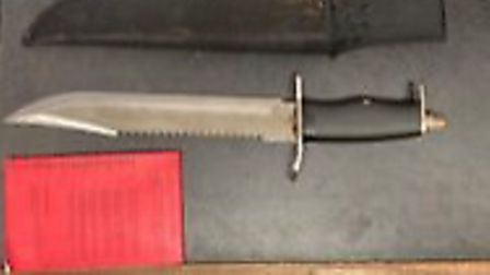 Five blades were among the weapons seized in Newham during Operation Sceptre. Picture: MPS