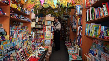 The children section of the Newham Bookshop, which celebrates its 35th birthday this year.