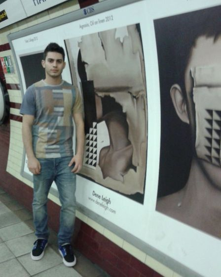 Dene Leigh was his artwork at Hampstead station.