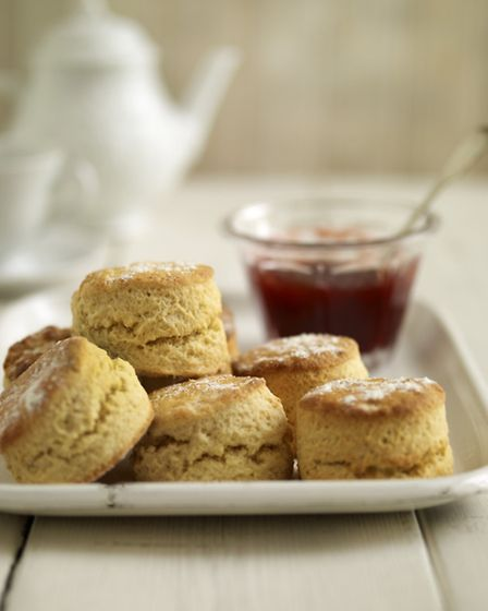 Plain scones, from The Women's Institute Vintage Teatime, published by Simon & Schuster, priced £9.99. Picture: PA...