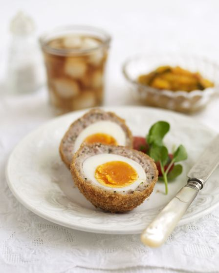 Scotch eggs, from The Women's Institute Vintage Teatime, published by Simon & Schuster, priced £9.99. Picture: PA...