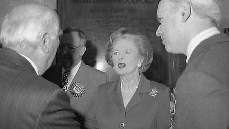 Margaret Thatcher met Tory party workers ahead of the 1997 general election