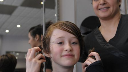 Ionie shows off her new short style. Her hair was cut by stylist Stavroulla Hoxha in Inspirations hairdressers, South...