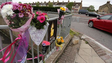 A woman named Jothy was killed in a car crash outside Newbury Park tube station on Monday night. Flowers were left at the...